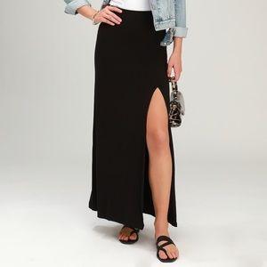 ATHLETA maxi skirt slit Small